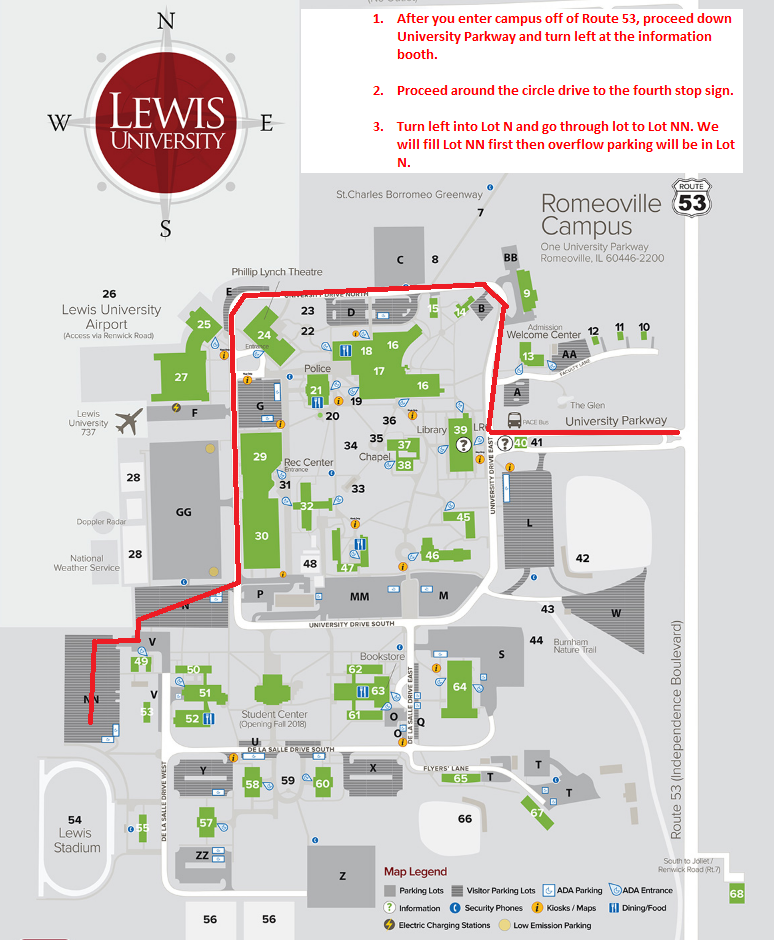 Lewis University Campus Map | compressportnederland